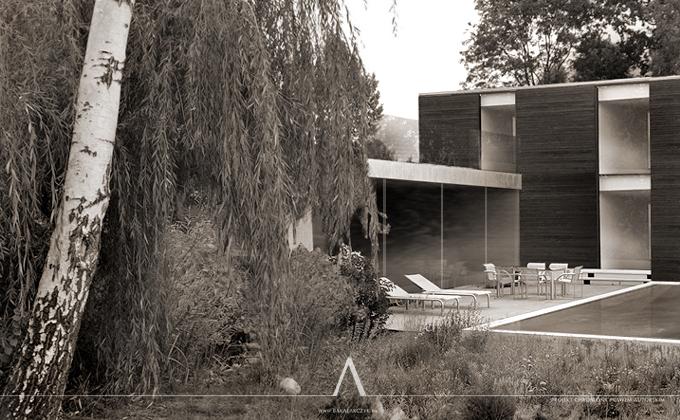 495 BBhouse. BAKALARCZYK GRUPA PROJEKTOWA - Architekt Poznań. Widok 1.