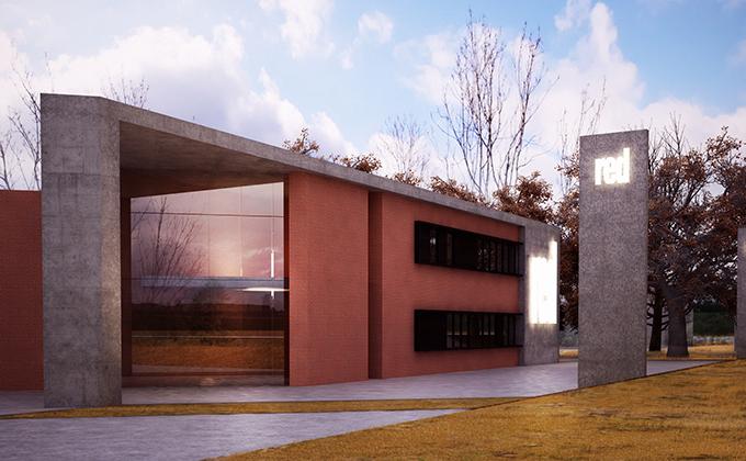 502 Magazyn wyrobów włókienniczych w Szczepankowie. BAKALARCZYK GRUPA PROJEKTOWA - Architekt Poznań. Widok 1.