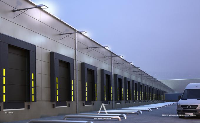 598 Centrum logistyczne w Norrköping. BAKALARCZYK GRUPA PROJEKTOWA - Architekt Poznań. Widok 1.