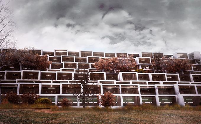 607 Budynek biurowo w Kristiansand. BAKALARCZYK GRUPA PROJEKTOWA - Architekt Poznań. Widok 1.