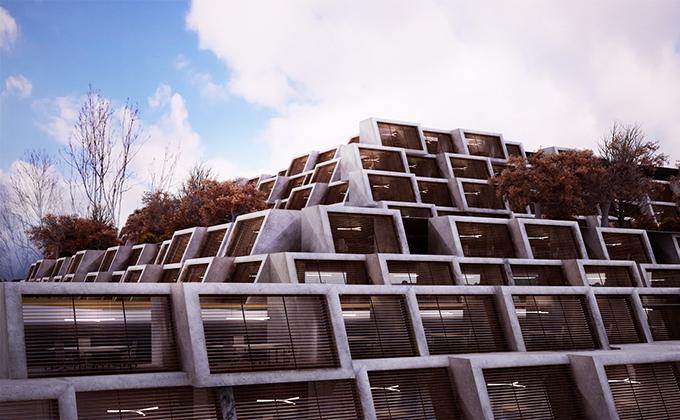 607 Budynek biurowo w Kristiansand. BAKALARCZYK GRUPA PROJEKTOWA - Architekt Poznań. Widok 2.