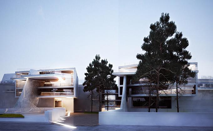 535 Budynek apartamentowo-hotelowy w Berlinie. BAKALARCZYK GRUPA PROJEKTOWA - Architekt Poznań. Widok 1.