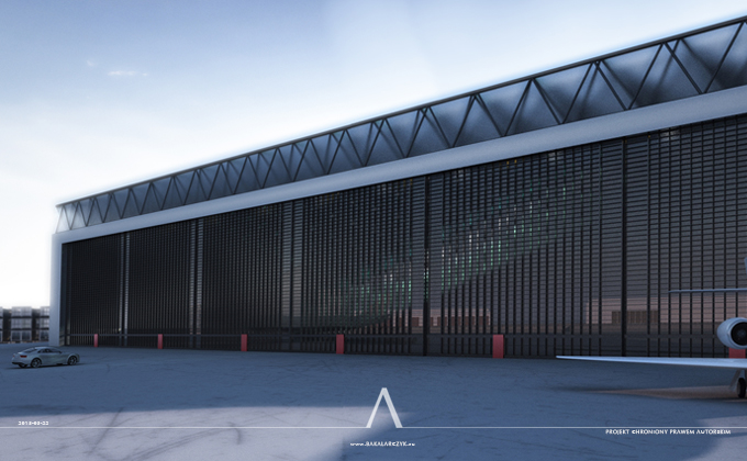 505 Zespół hangarów remontowych w Kaiserslautern. BAKALARCZYK GRUPA PROJEKTOWA - Architekt Poznań. Widok 1.