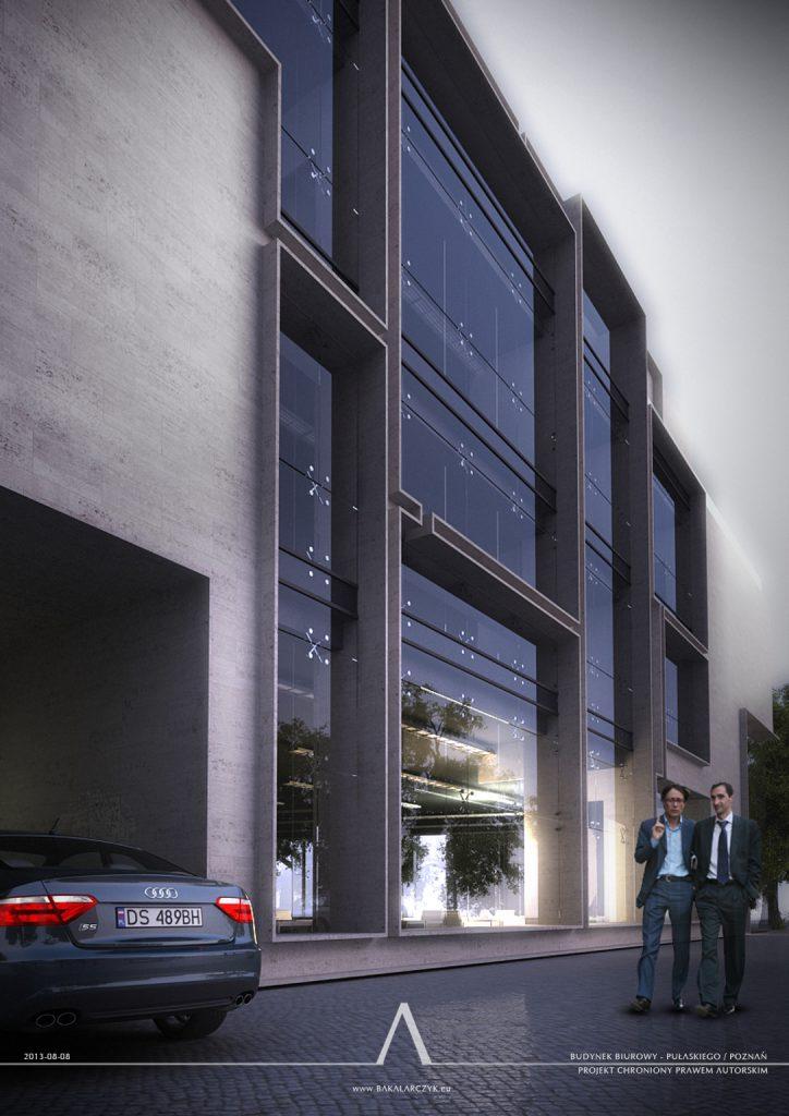 550 Budynek biurowy w Poznaniu. BAKALARCZYK GRUPA PROJEKTOWA - Architekt Poznań. Widok 2.