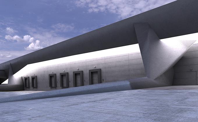 597 Hala przemysłowo-magazynowa w Odense. BAKALARCZYK GRUPA PROJEKTOWA - Architekt Poznań. Widok 3.